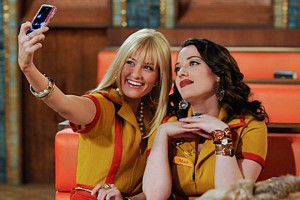 "EnlargeBeth Behrs and Kat Dennings in ""2 Broke Girls"""